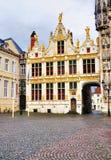 Porta ao Burg, Bruges Imagem de Stock Royalty Free