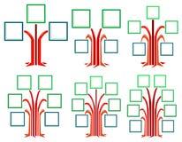 O quadrado molda a árvore Fotos de Stock