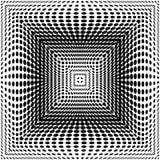 O quadrado monocromático do projeto pontilha o fundo Imagem de Stock