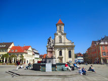 O quadrado principal de Ludwigsburg em Alemanha Fotografia de Stock