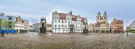 O quadrado principal de Luther City Wittenberg em Alemanha Fotos de Stock Royalty Free