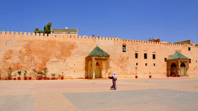 O quadrado principal de Meknes em Marrocos Fotos de Stock Royalty Free