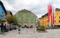O quadrado principal em Tamsweg, Áustria Fotos de Stock