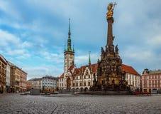 O quadrado principal - Olomouc - República Checa Fotografia de Stock