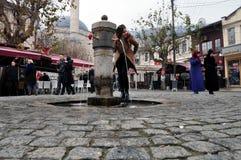 O quadrado Prizren de Shadrvan fotografia de stock royalty free