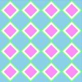 O quadrado verde azul cor-de-rosa pastel telha o teste padrão sem emenda ilustração do vetor