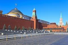 O quadrado vermelho em Moscovo, Rússia fotos de stock royalty free