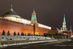 O quadrado vermelho em Moscovo, Rússia foto de stock