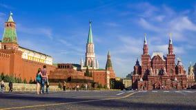 O quadrado vermelho, Moscovo, Rússia imagens de stock