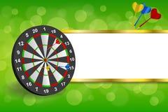 O quadro abstrato da placa de dardos do ouro verde do fundo listra a ilustração Fotos de Stock Royalty Free