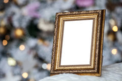 O quadro da foto no Natal decorou o fundo imagem de stock royalty free