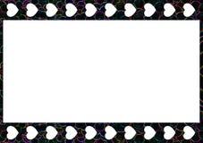 o quadro da obscuridade de 35mm dos corações com detalhes coloridos formou por bolhas ilustração royalty free