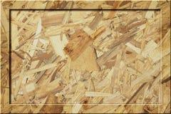 O quadro de avisos vazio de madeira do quadro de mensagens de OSB escurece-se Fotos de Stock Royalty Free