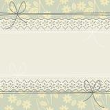 O quadro do laço da mola com flores, curva-se e sae-se Fotos de Stock Royalty Free