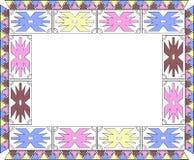 O quadro do teste padrão étnico africano com cruzes ilustração royalty free