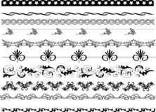 O quadro encurrala testes padrões, beiras e designs florais ilustração stock