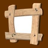 O quadro é feito da madeira Placas de madeira e pregos velhos Casa do vintage Fotografia de Stock Royalty Free