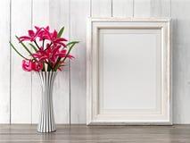 O quadro moderno vazio do estilo, 3D rende Foto de Stock