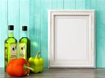 O quadro moderno vazio do estilo, 3D rende Imagens de Stock
