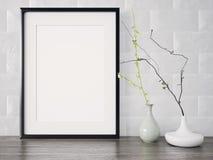 O quadro moderno vazio do estilo, 3D rende Imagem de Stock Royalty Free