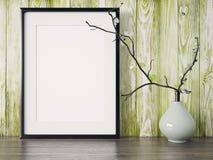 O quadro moderno vazio do estilo, 3D rende Imagem de Stock