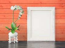 O quadro moderno vazio do estilo, 3D rende Foto de Stock Royalty Free