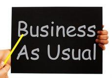 O quadro-negro do negócio como de costume significa a rotina Fotos de Stock Royalty Free