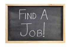 O quadro-negro do recrutamento encontra um trabalho Imagens de Stock Royalty Free