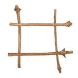 O quadro para a imagem feita dos logs ásperos do pinho, isolados sobre Foto de Stock Royalty Free