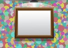 O quadro pendura em uma parede colorida Ilustração Royalty Free