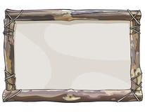 O quadro pintado de varas de madeira limita com corda Fotos de Stock Royalty Free