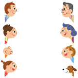 O quadro que eu olho fixamente em famílias ilustração royalty free
