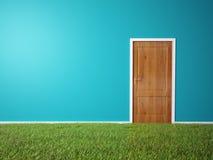 O quarto com uma grama cobriu o assoalho Imagem de Stock
