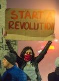 O quarto dia do protesto contra o coruption e o governo romeno Fotografia de Stock Royalty Free