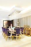 O quarto dinning da família doce Fotos de Stock