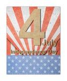 O quarto do Dia da Independência de julho Imagem de Stock