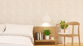 O quarto e relaxa o projeto limpo da cadeira - rendição 3d Fotografia de Stock