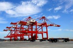 O quarto projeto da fase do porto das águas profundas de Yangshan em Shanghai fotografia de stock royalty free