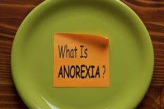 O que é conceito da anorexia imagem de stock