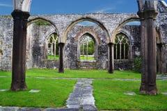 O que é deixado de uma igreja bombardeada de WW2 Fotos de Stock Royalty Free