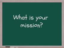 O que é seu quadro-negro da missão. Fotos de Stock