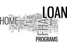 O que é uma nuvem da palavra de empréstimo hipotecário de Fha ilustração royalty free