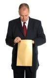 O que está no envelope Fotografia de Stock Royalty Free