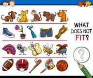 O que não cabe desenhos animados do jogo Imagem de Stock