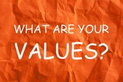 O que são seus valores imagens de stock royalty free