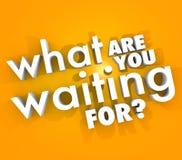O que são você ato urgente de espera da pergunta agora Fotografia de Stock Royalty Free