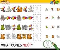 O que vem desenhos animados seguintes do jogo Imagens de Stock