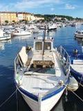 O quebra-mar de Rovinj fotos de stock royalty free