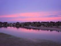 Quebra-mar ocidental de Ashtabula Imagens de Stock