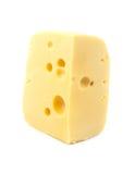 O queijo é isolado imagens de stock